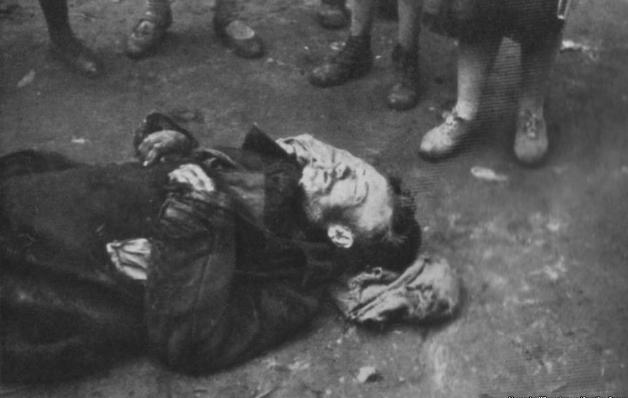 Dead body on Street, Ukraine Genocide