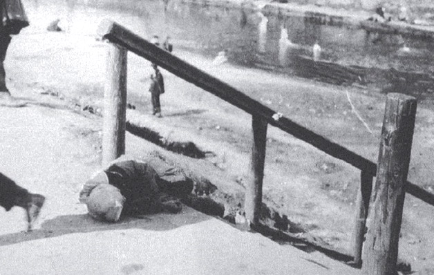Dead Child on Street / Ukrainian Genocide