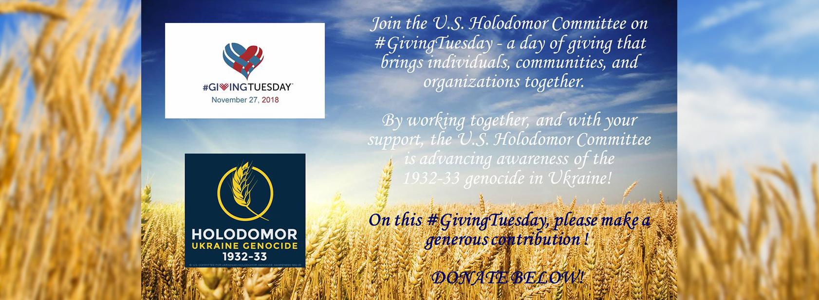 Holodomor Remenbrance Dav: Nov 24, 2018
